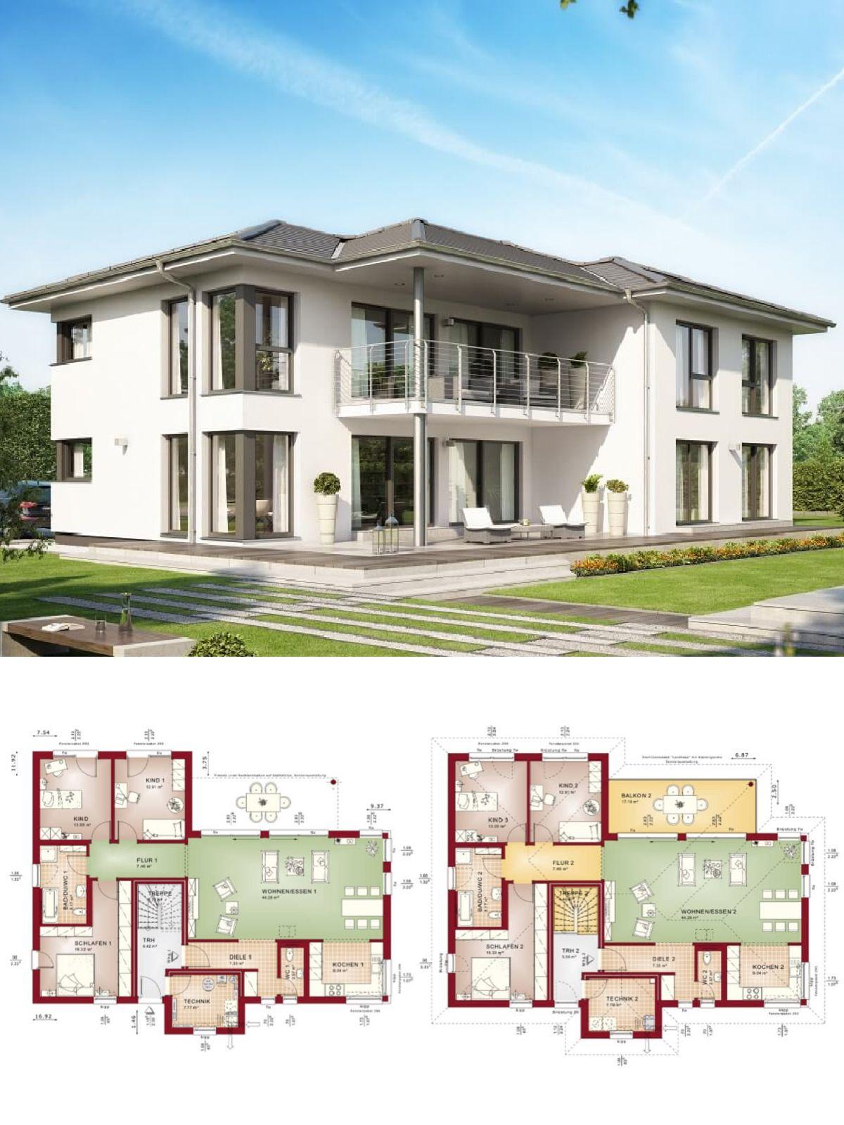 Modernes Zweifamilienhaus mit Einliegerwohnung & Walmdach ...