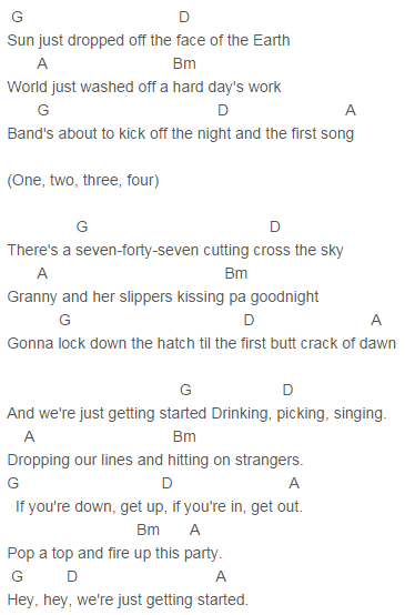 Blake Shelton - Just Getting Started Chords | Quotes, Lyrics, Faith ...