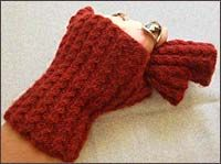 Petite Cables Fingerless Gloves