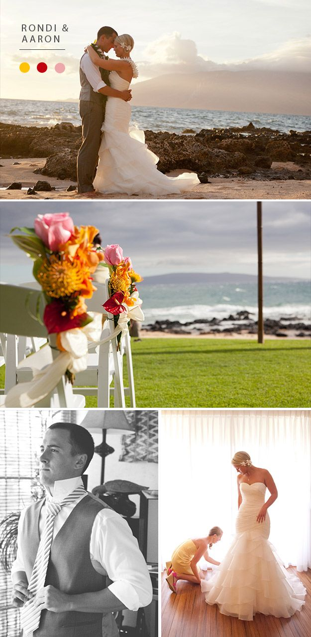 Real Wedding Rondi Aaron Paper DivasMaui