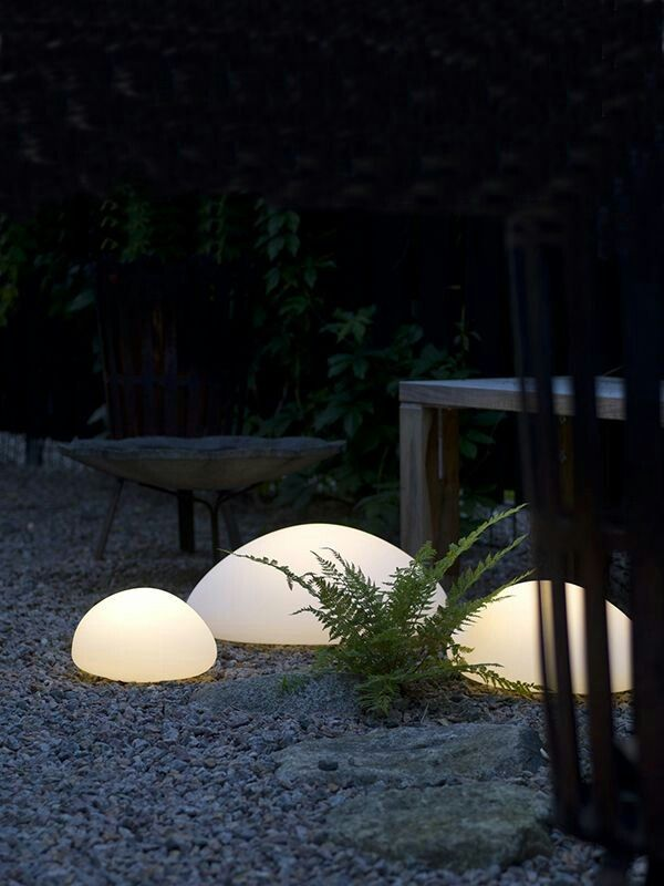 Pin By J A On Lighting With Images Led Garden Lights White Pebble Garden Outdoor Lighting