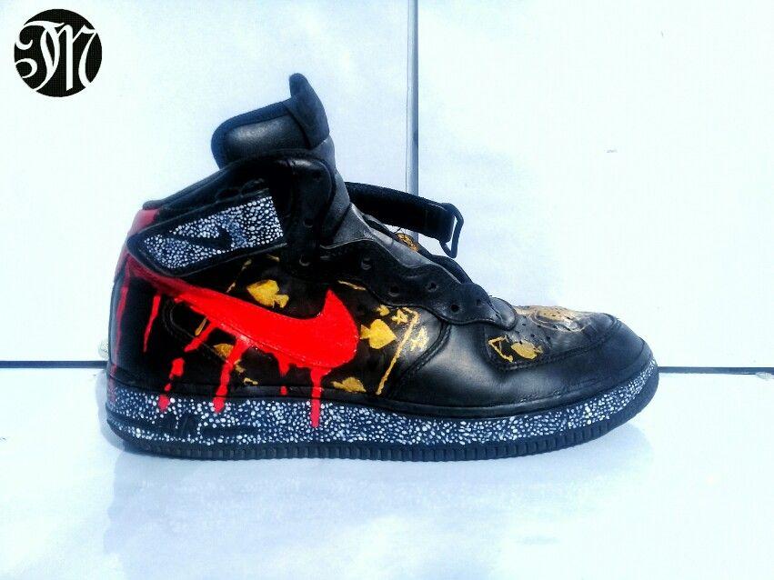Nike Air Force 1 Personalizados Por Zapatillas Personalizadas Mano Pintadas A Mano Personalizadas 83229f