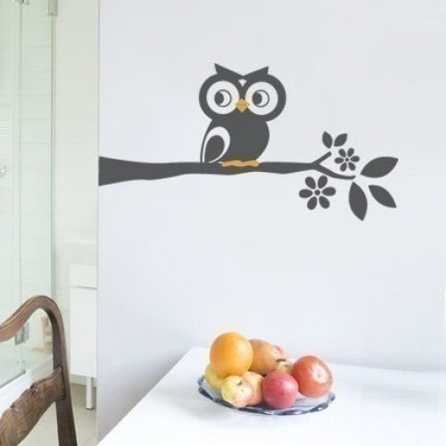 Owl On A Branch Decal   Cute Vinyl Wall Sticker