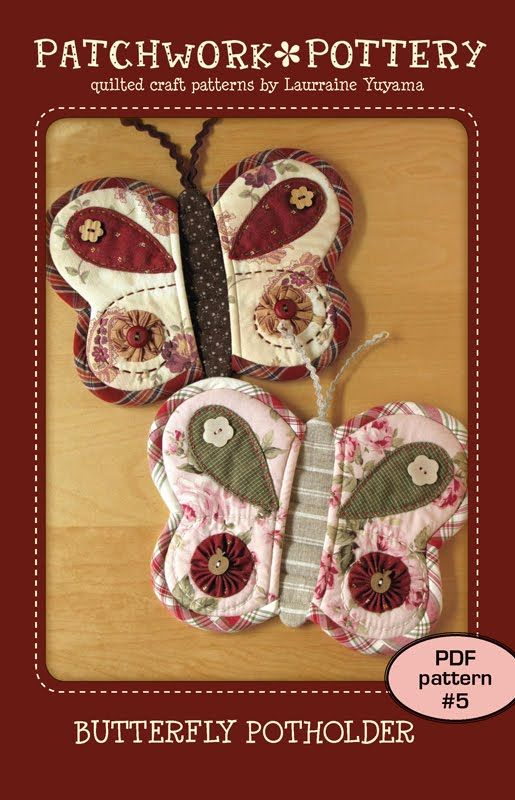 Butterfly potholders--- look like a good design for not burning ...