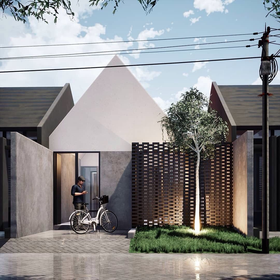 Facade House, Small House Architecture, House