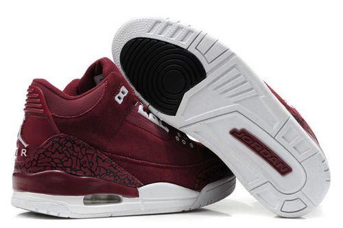 $89.97 Men's Nike Air Jordan 3 Shoes Garnet/White