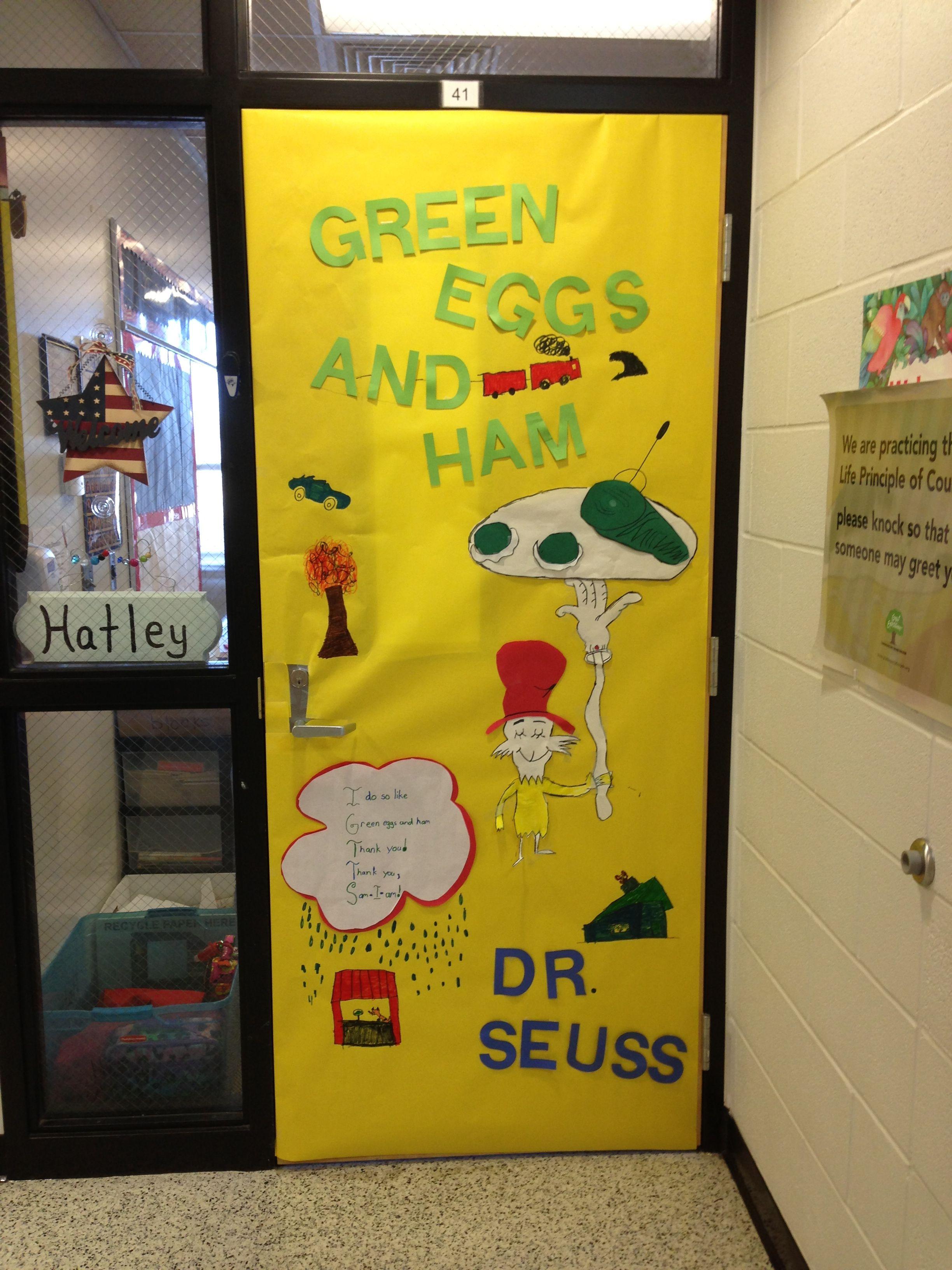Dr Seuss Green Eggs And Ham Door Decoration Dr Seuss