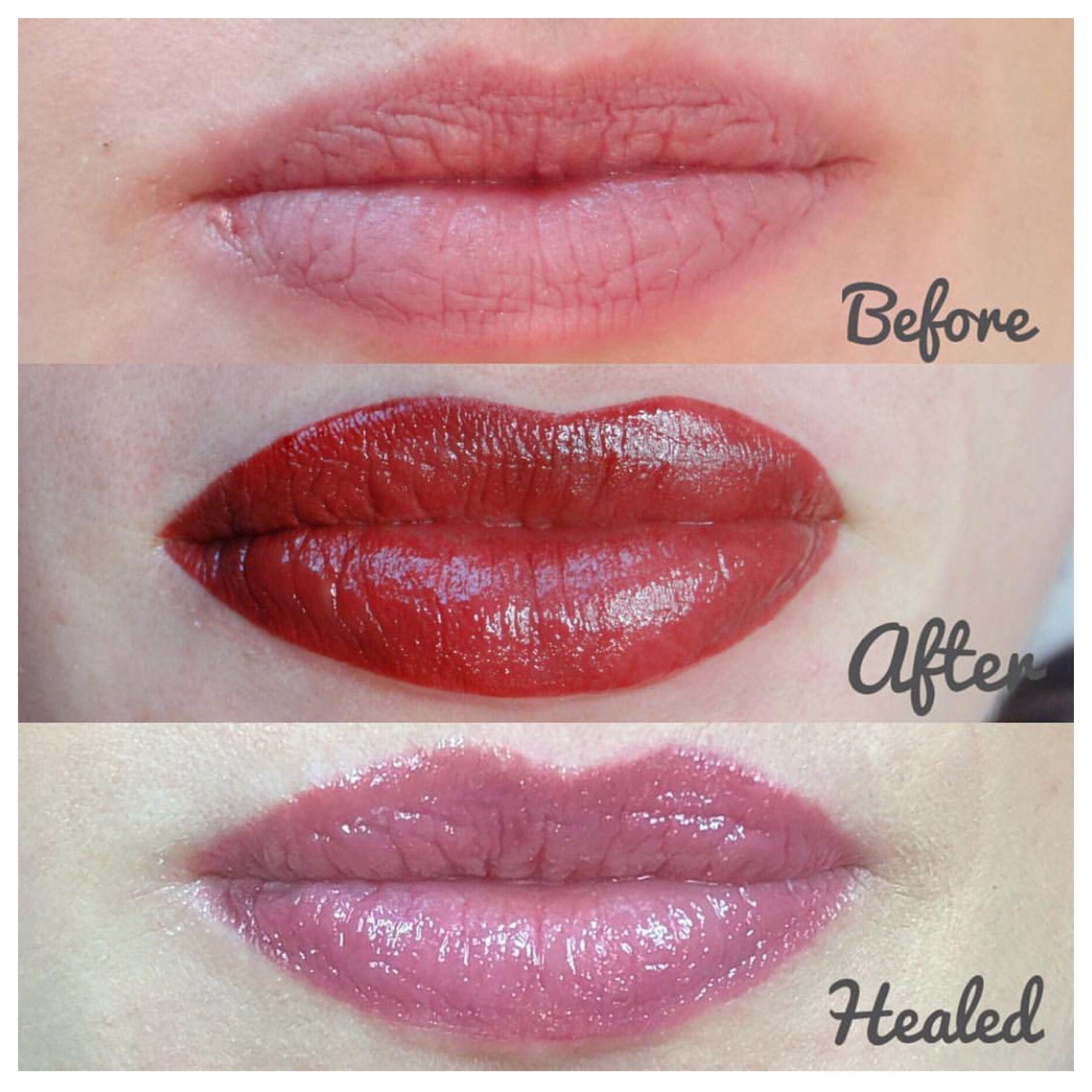 Permanent makeup lips Lip permanent makeup, Permanent