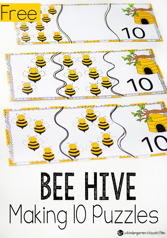 Beehive Puzzles For Making 10 Srkennsla Pinterest Bees Math