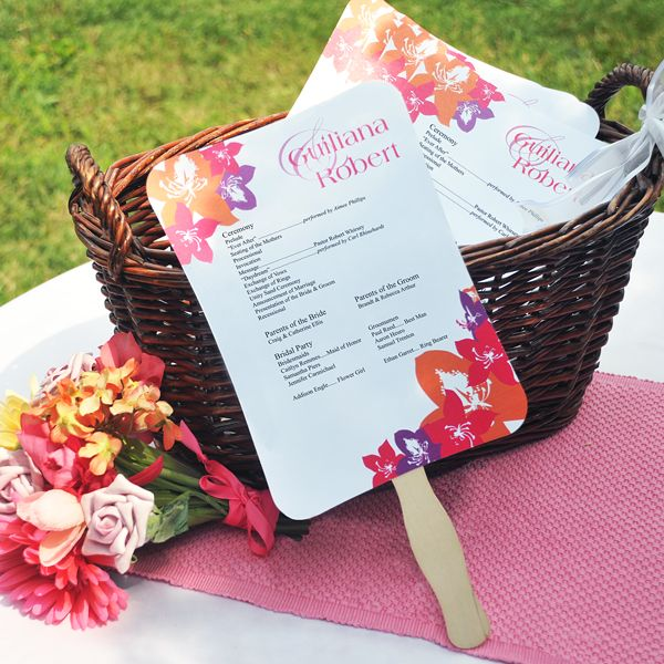 Cathys Concepts Diy Designer Fan Program Paper Kit Realty Up To You Guys Want Or Not At U Wedding