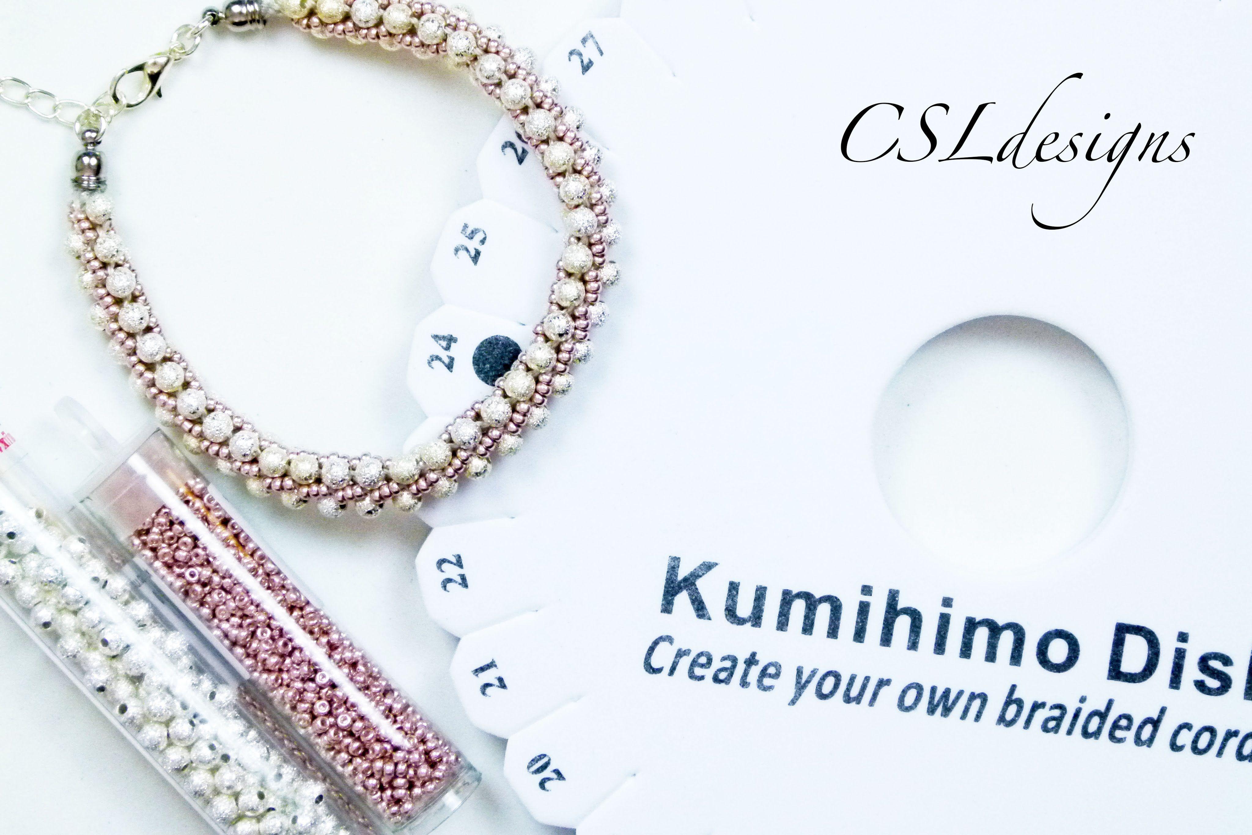Design With Me (DWM) elegant kumihimo braid speed video | kumihimo ...
