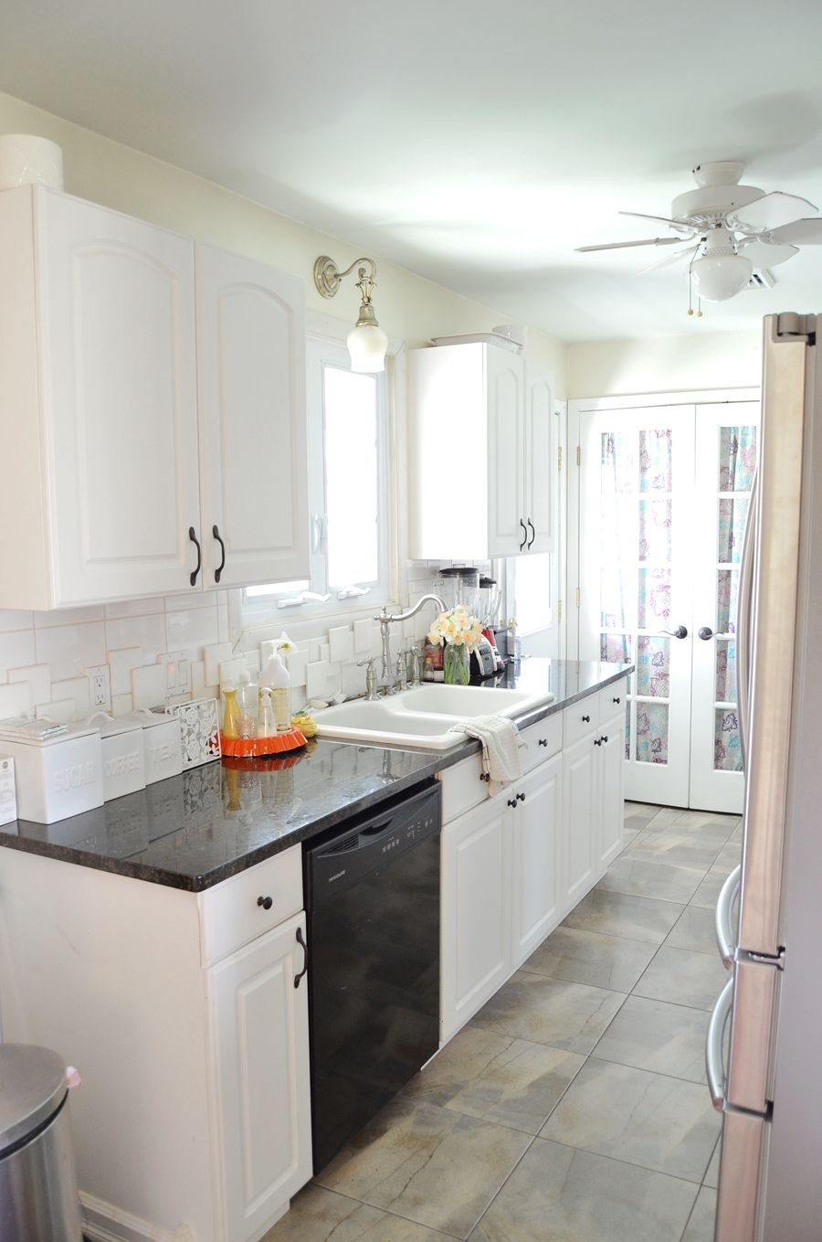 Why I Did Not Want To Open This Kitchen Up When We Changed Up The Look This Is The Galley Kitchen Design Galley Kitchen Remodel Small Galley Kitchen Designs
