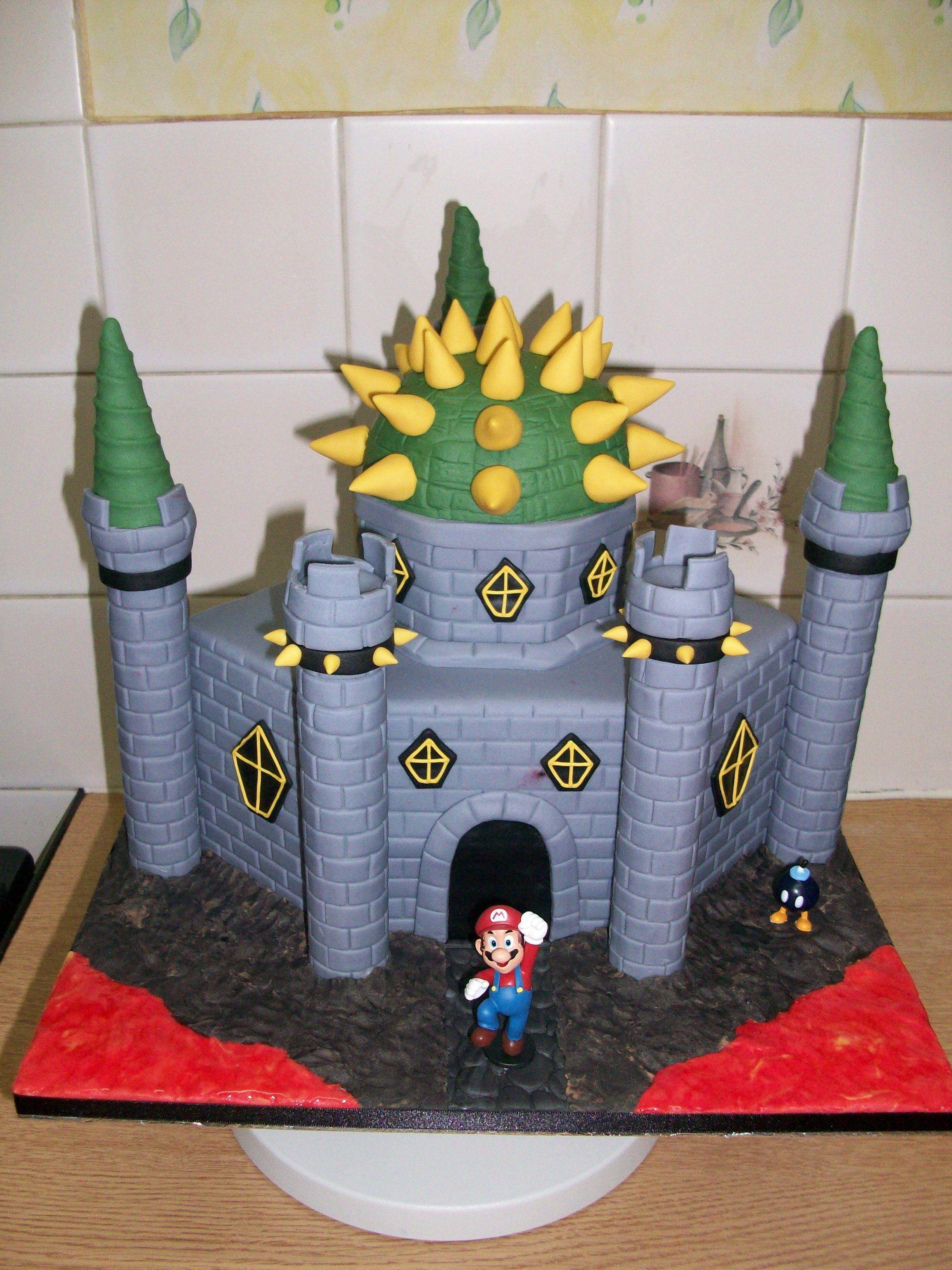 Super Mario Bros Bowser Castle Cake Mario Bross Party In 2019