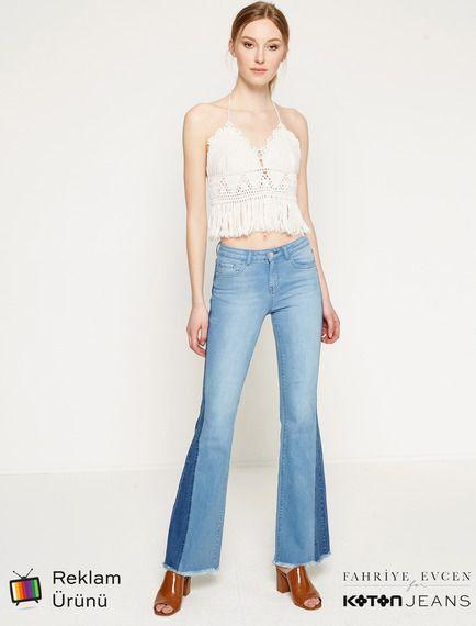 Baz Adli Kullanicinin Koton Panosundaki Pin Pantolon Kadin Jean