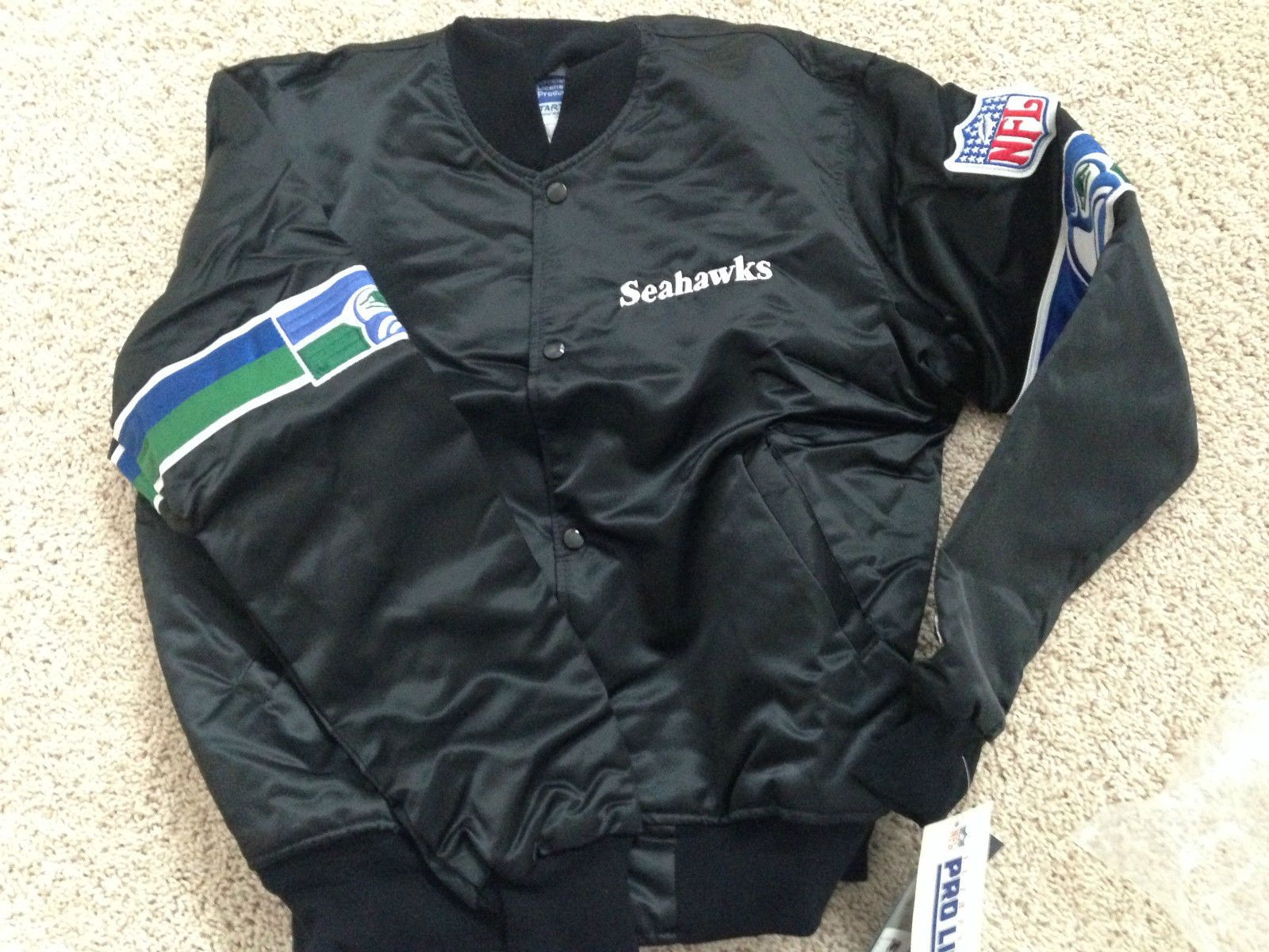 Seattle Seahawks Starter Jacket (Black!) | Jackets, Seattle