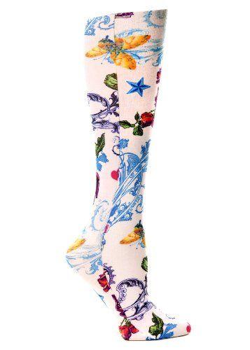 Celeste Stein Therapeutic Compression Socks Tattoo Parlor 15 20 Mmhg 1 Pair Celeste Stein Http Www Amazon Com Dp B0 Compression Socks Tattoo Parlors Socks