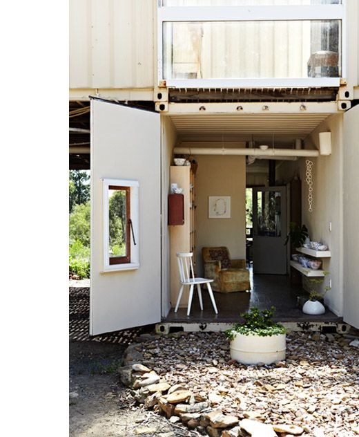 Prefab Pool House Guest Suite: Shipping Container Studio