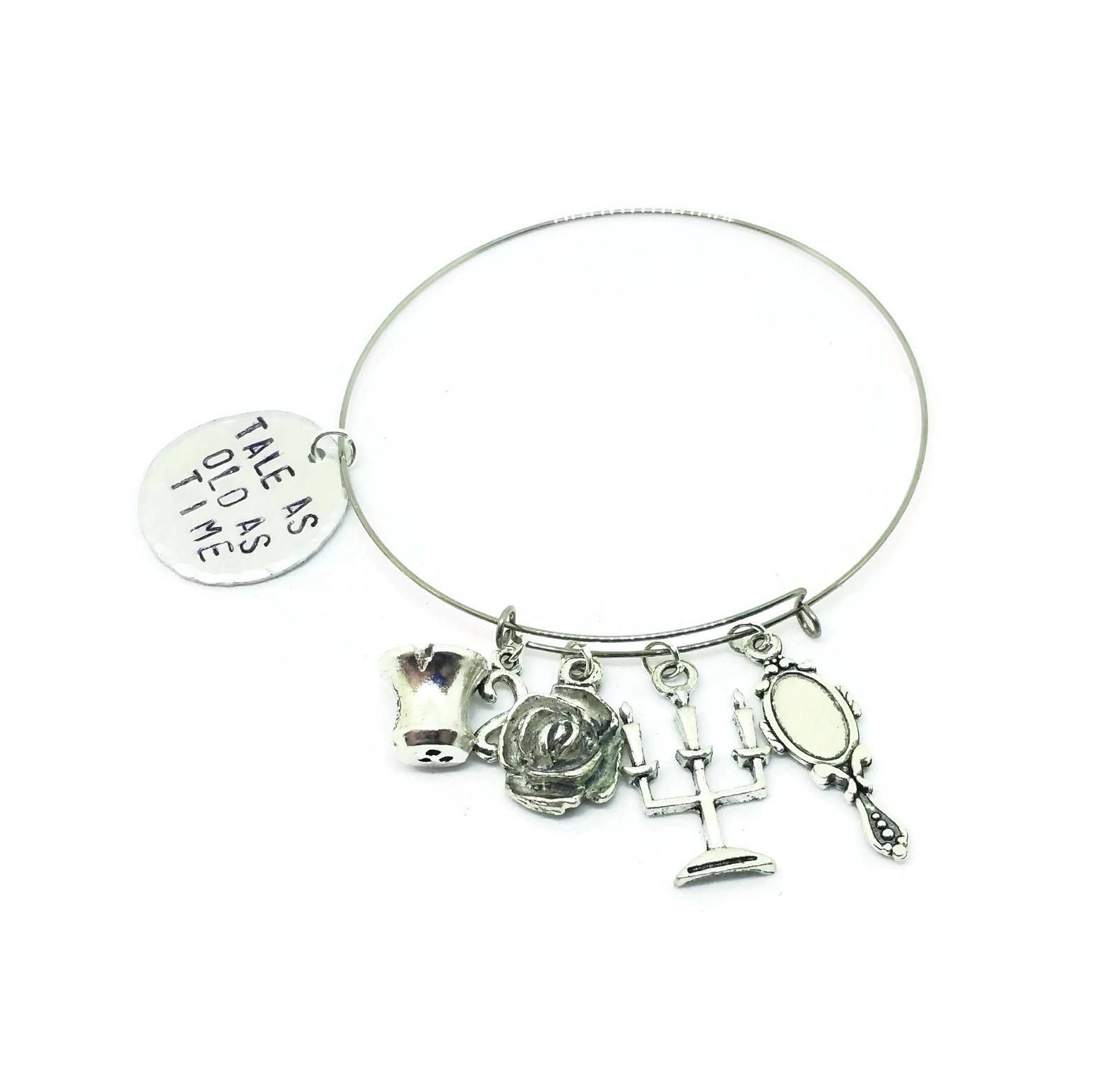 Tale as Old as Time Adjustable Charm Bracelet Beauty and the