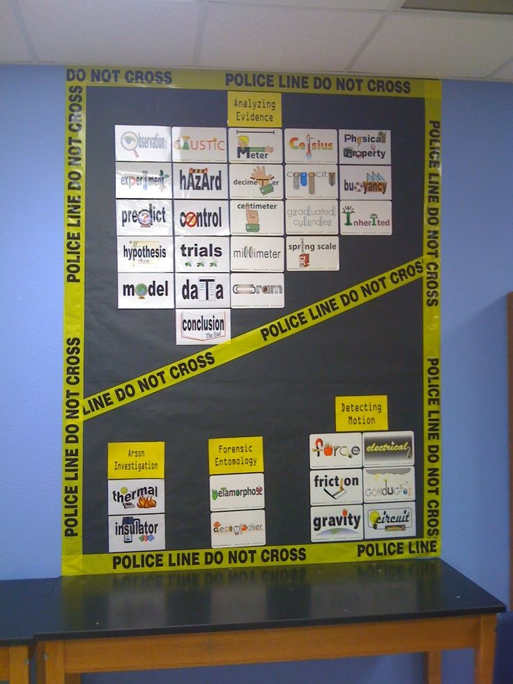 Word Wall for Forensic Science class