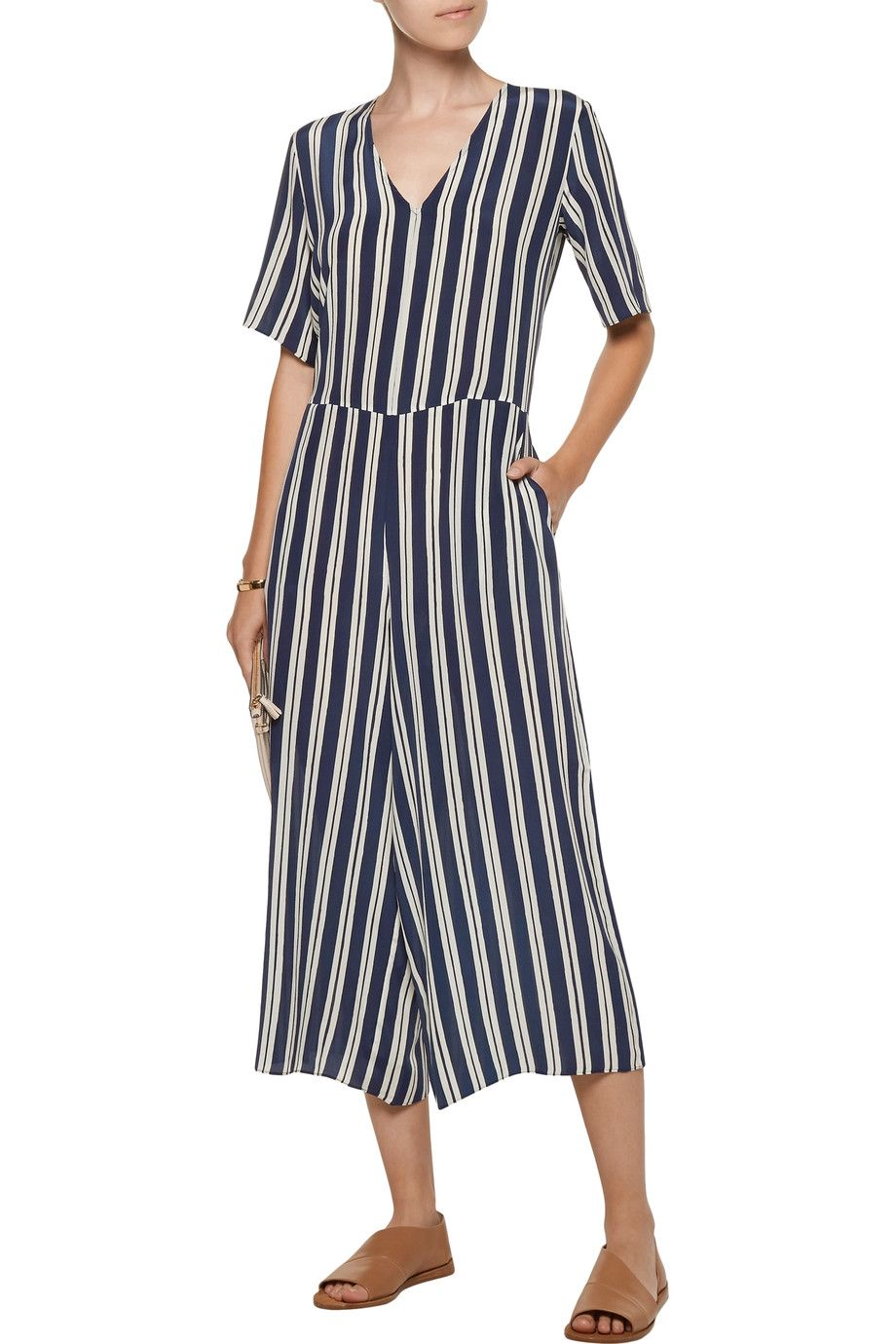 54cc86c2f72 Shop on-sale M.i.h Jeans Hart cropped striped silk jumpsuit. Browse other  discount designer