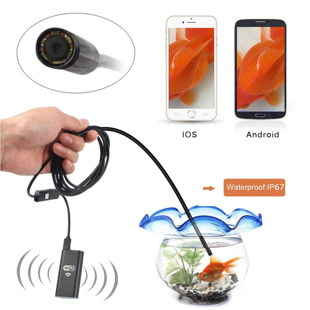 Valve Box Inspection Camera Hd720p Wifi 8mm Lens 5m 35m 2m 1m Kabel Usb To Micro Howell High Quality 1 5 Meter Android Utility Technologies
