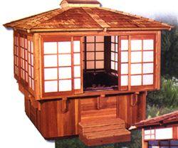 Shoji Lip Mount 7'x7' cedar gazebo. Sized to your tub ...