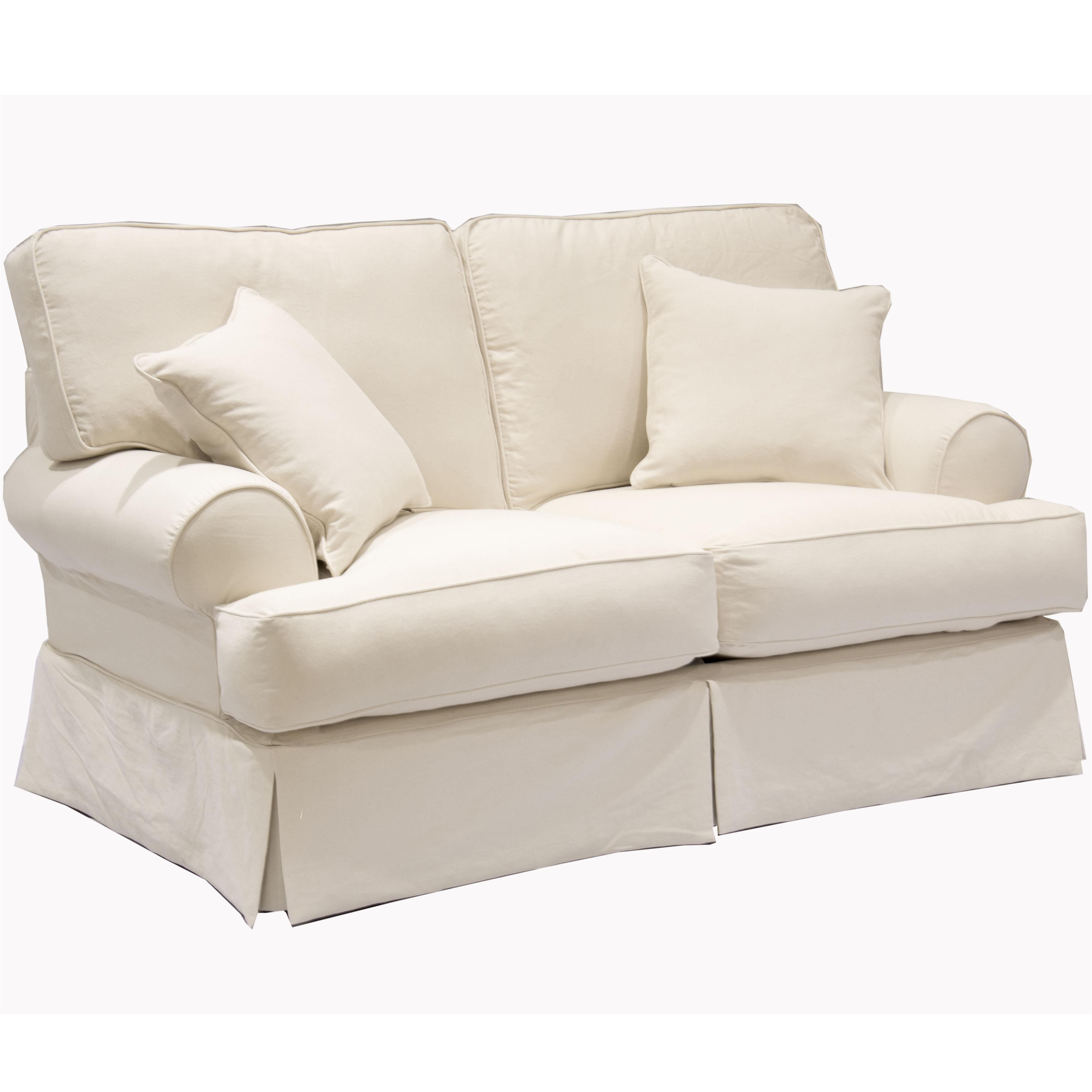 669 Casual Love Seat with Rolled Sock Arms by Synergy Home