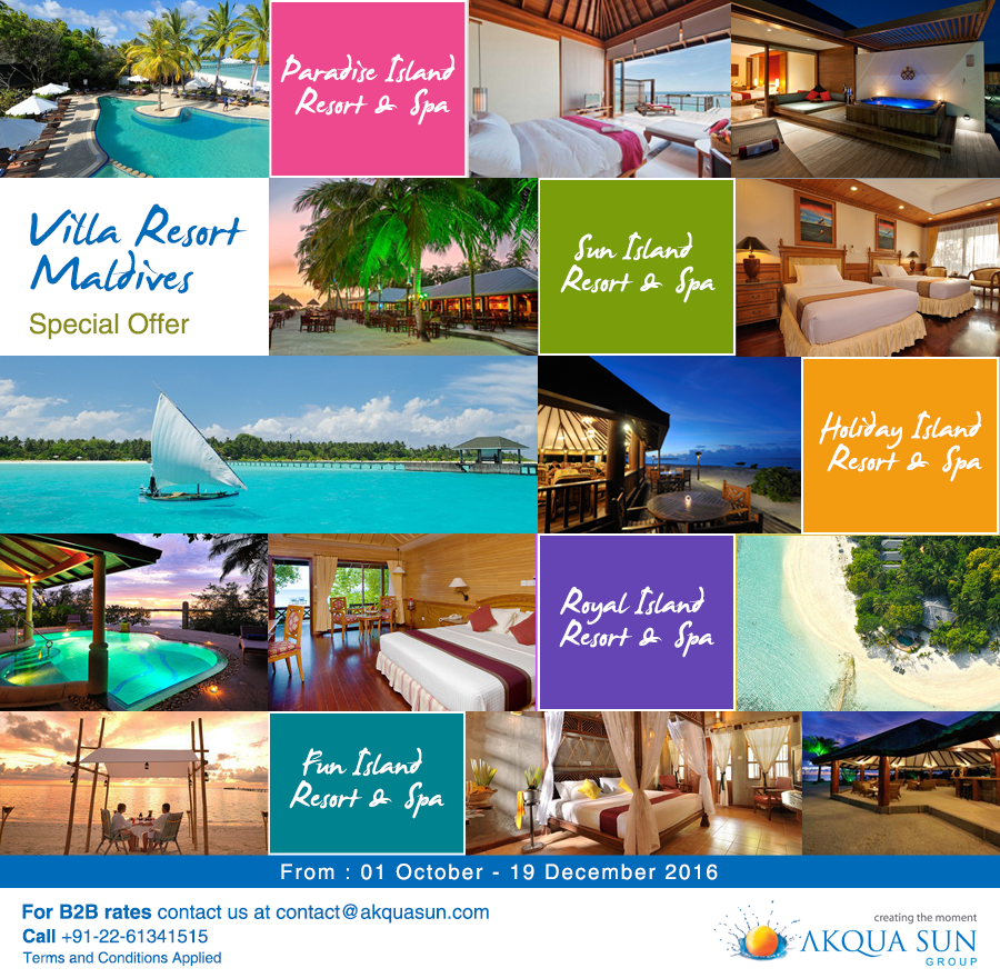 Sun Island Beach Maldives: Villa Resort Maldives Special Offer From : 01 October