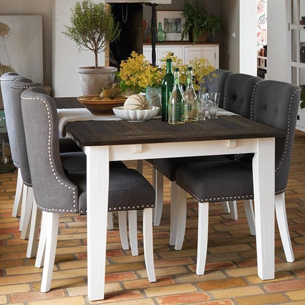 Adele White Leg Dining Chairs In Grey Fabric Dining Room Dining