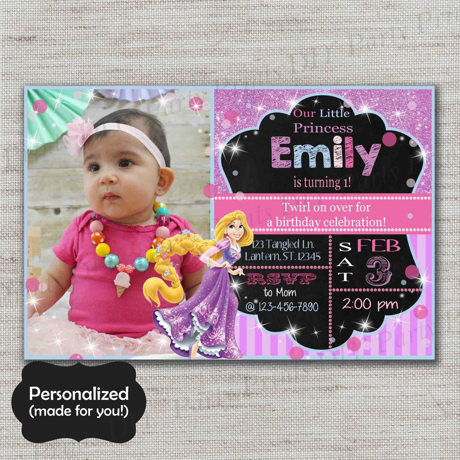 Tangled inviteRapunzel Birthday invitationJPG fileBirthday