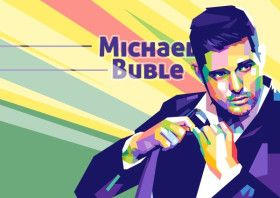 Michael Buble | Displate thumbnail