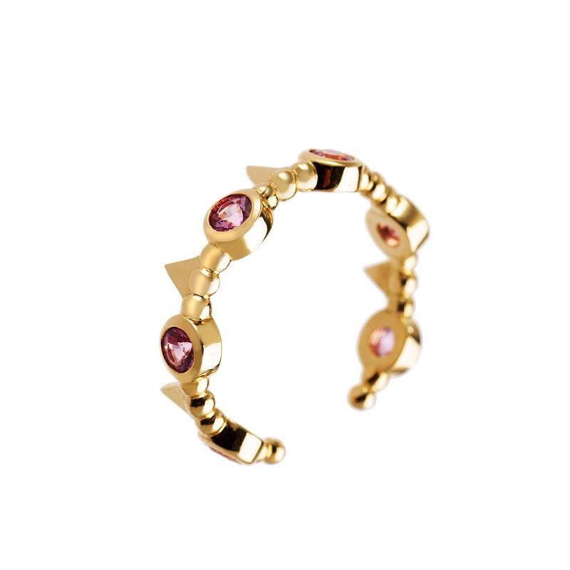 8d9e71f90857a Anel Crown Michelle Tamoni em ouro 18 k com safiras rosas. Anel De Safira  RosaAnéis ...