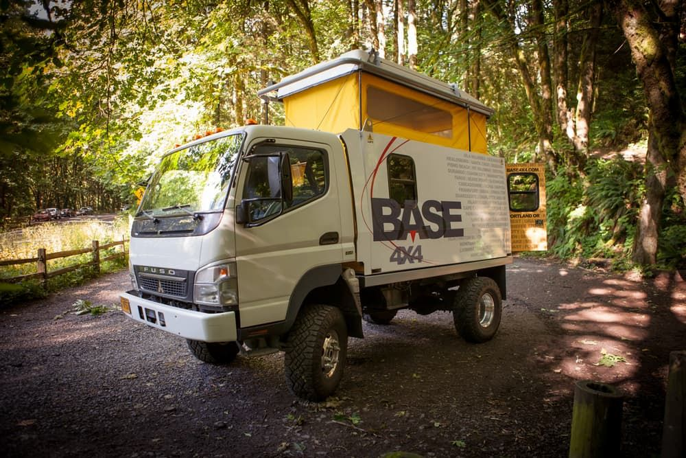 Mitsubishi Fuso Base 4x4 Expedition Truck with pop top ...