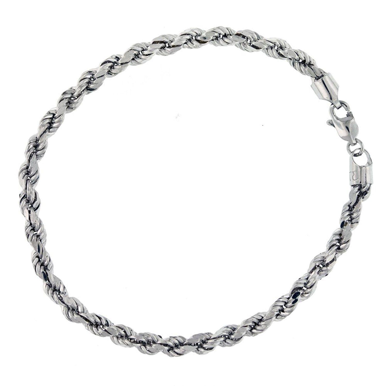 Carissima Gold 9 Ct Yellow Semi Hollow Diamond Cut Rope Bracelet