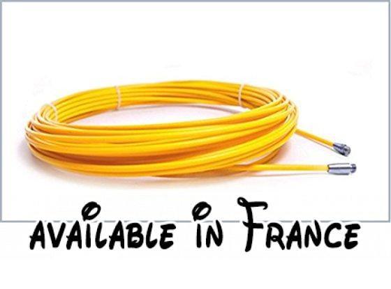 Rechange guia Passe-câble fibre de verre de 11 mm et 200 mètres de - couleur des fils electrique