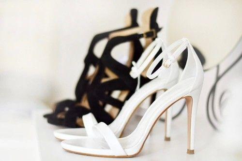 Sapatos Black White