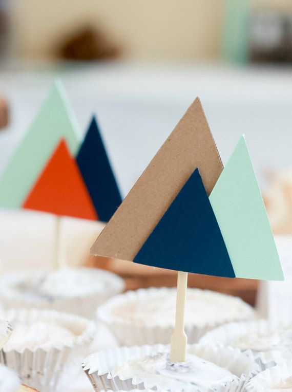 Mountain Cupcake Topper Outdoor Cupcake Topper By