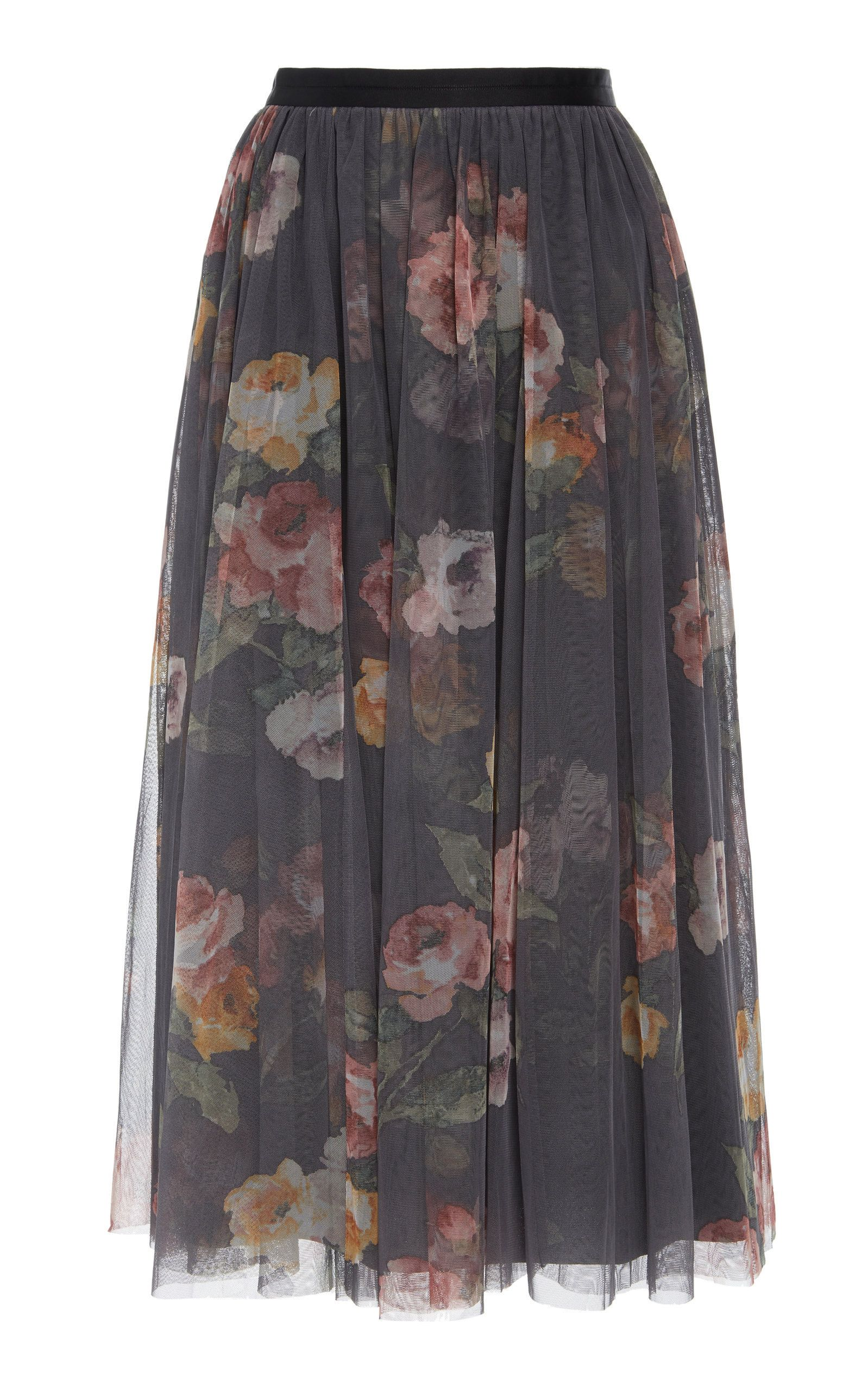 eb37ec341e Venetian Rose Floral-Print Tulle Skirt by NEEDLE & THREAD Now Available on  Moda Operandi