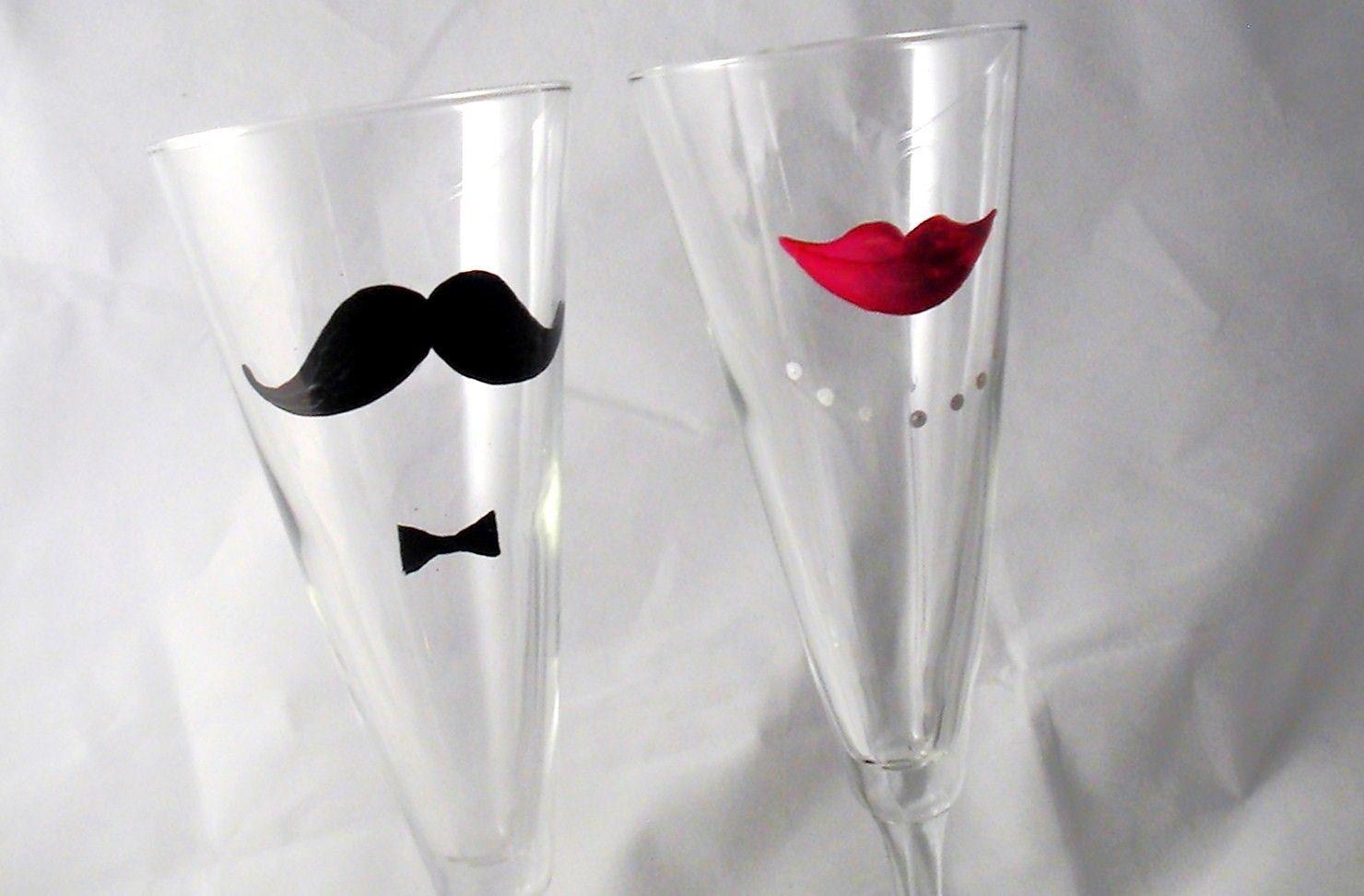 wedding champagne flutes haha these are kinda fun @Megan Lawson | my ...