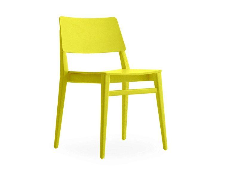Stapelbarer lackierter Stuhl TAKE | Lackierter Stuhl - BILLIANI ...