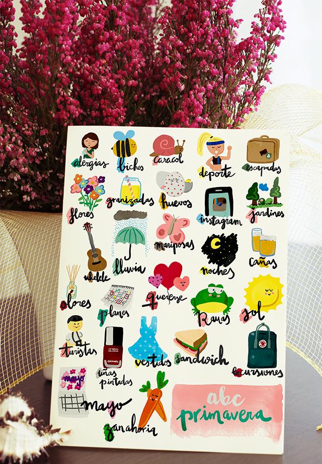 milowcostblog: imprimible: ABC primavera lámina y fichas ...