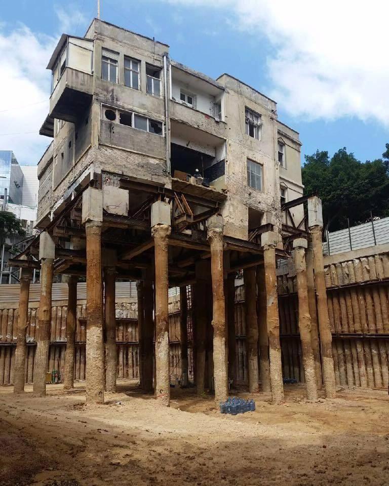 Sostenimiento en pilotes Construccion de edificios