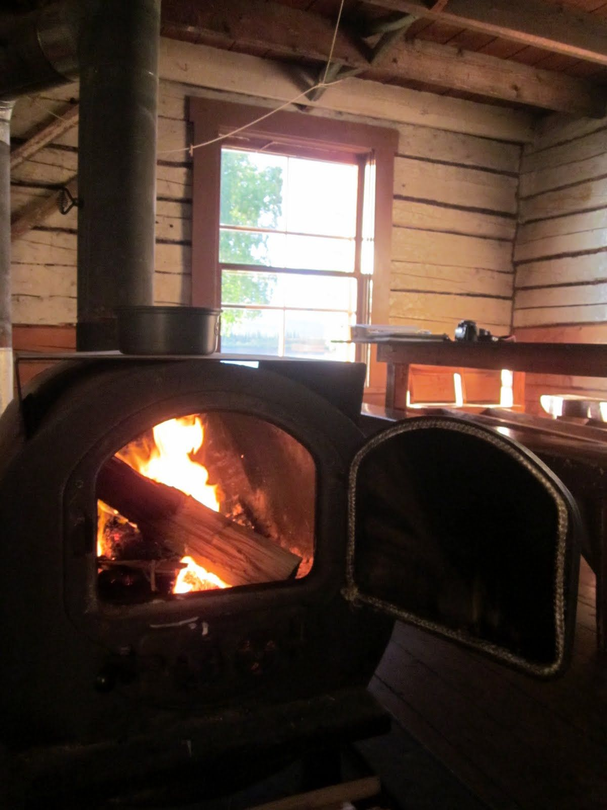 awesome wood stove to keep the cabin warm camp house country