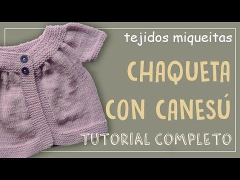 fcbb31079c74 Cómo hacer una chaqueta con canesú - YouTube | bb | Tejidos ...