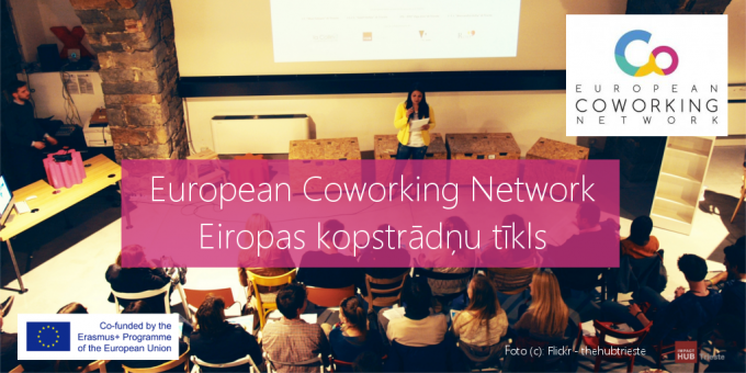 "The objective of the ""European Coworking Network"" is to foster self-employment possibilities of young people through #coworking concept.  The project aims:  to stimulate entrepreneurship of young people, to motivate them to be responsible and active citizens, and to improve business ecosystem for young entrepreneurs through better cooperation between public, private and civil sector."