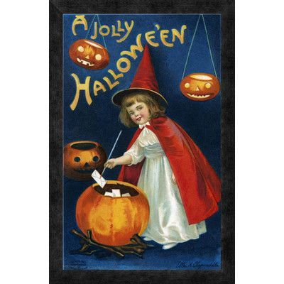 Global Gallery 'A Jolly Halloween' by Halloween Framed Vintage Advertisement Size: