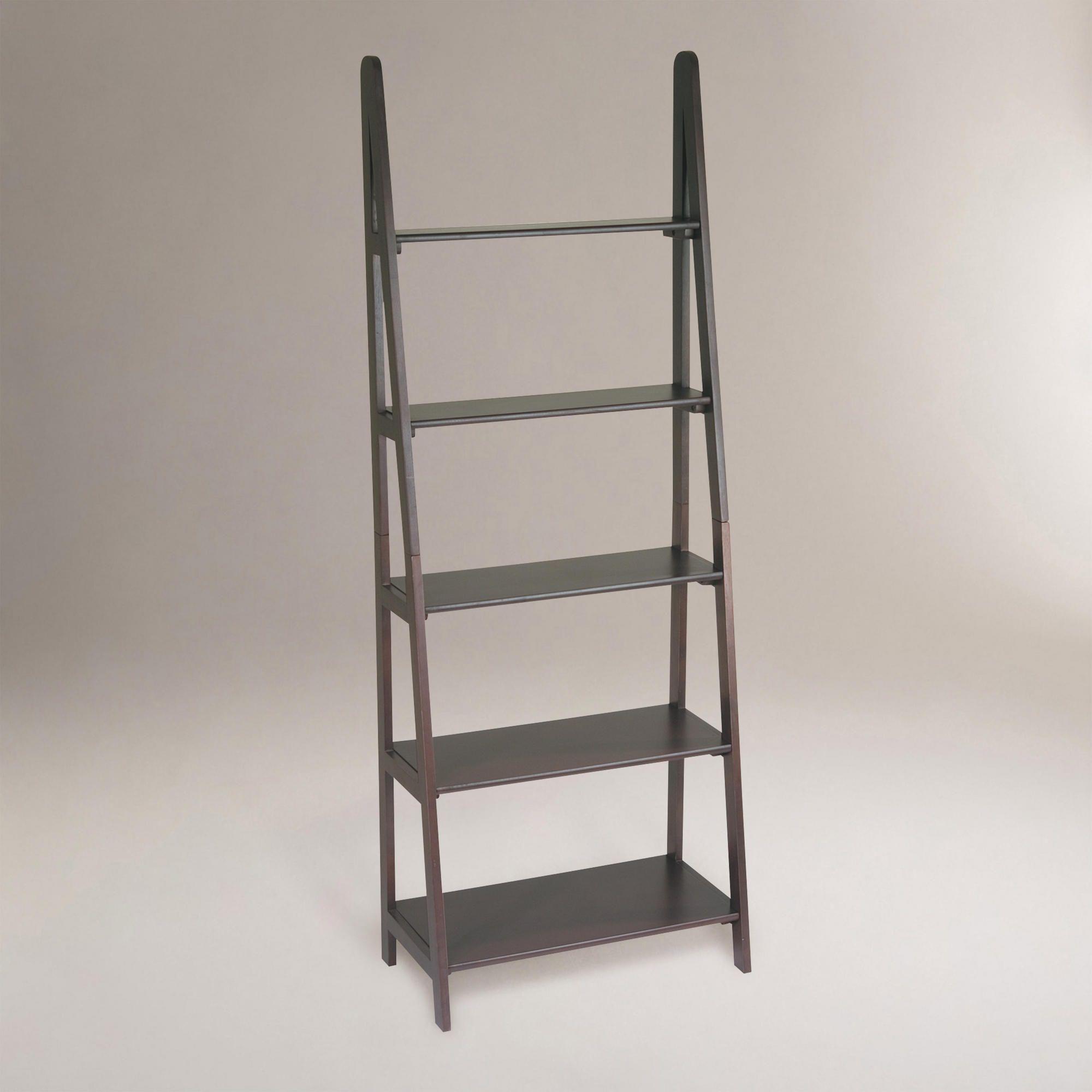 Dillon ladder bookcase world market living room pinterest