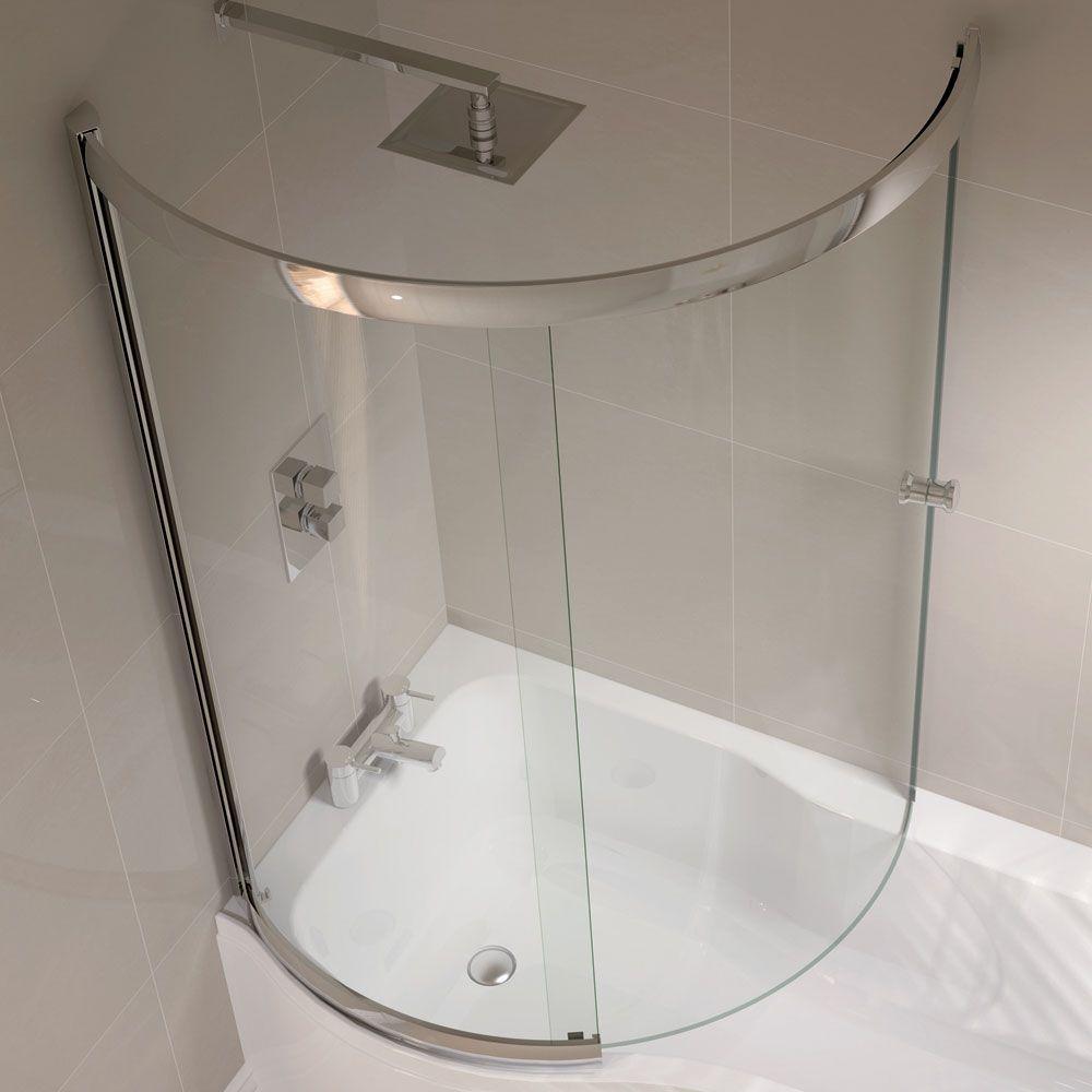 April - P Shape Sliding Bath Screen - Left or Right Hand Option ...