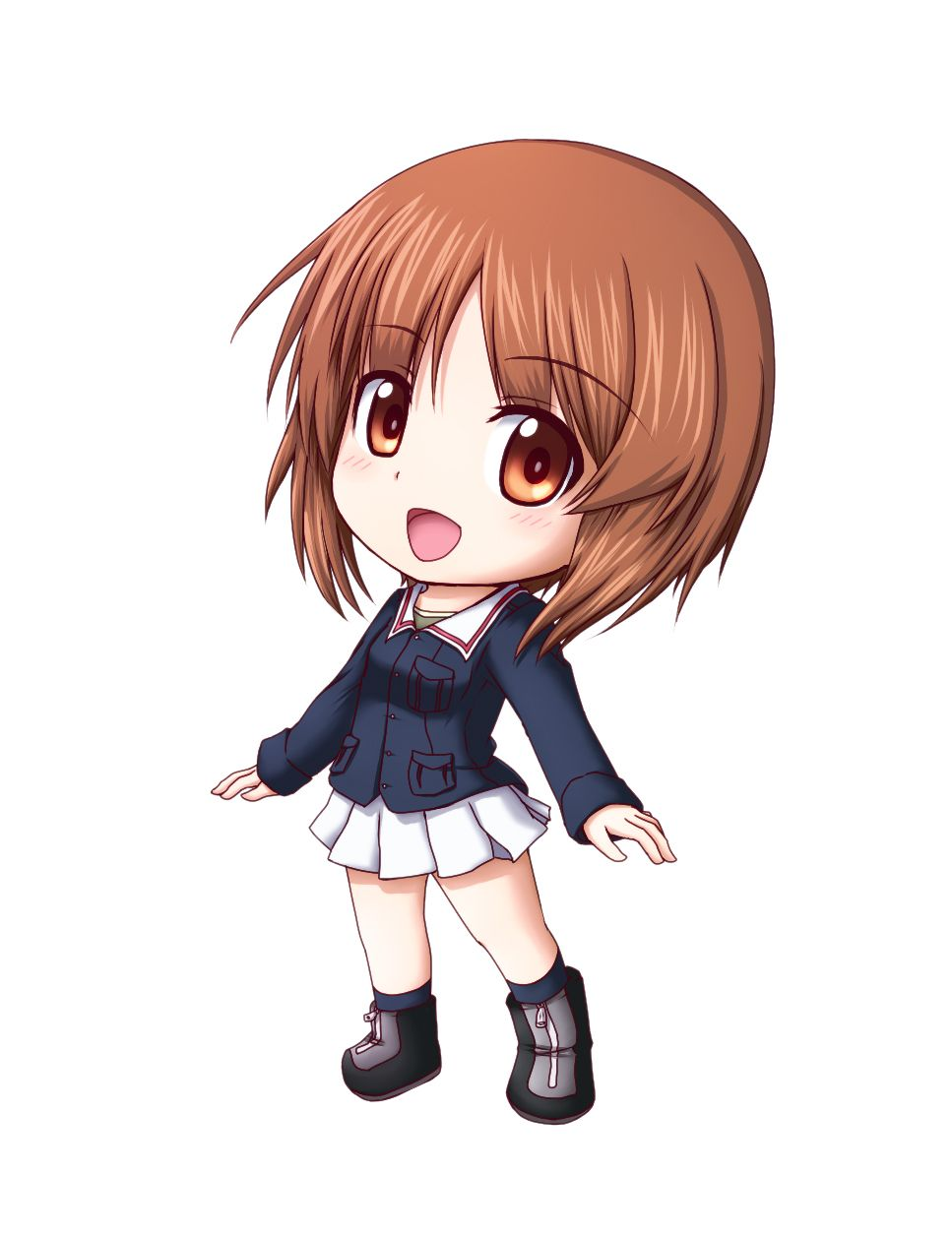 Pix for anime chibi girl with brown hair