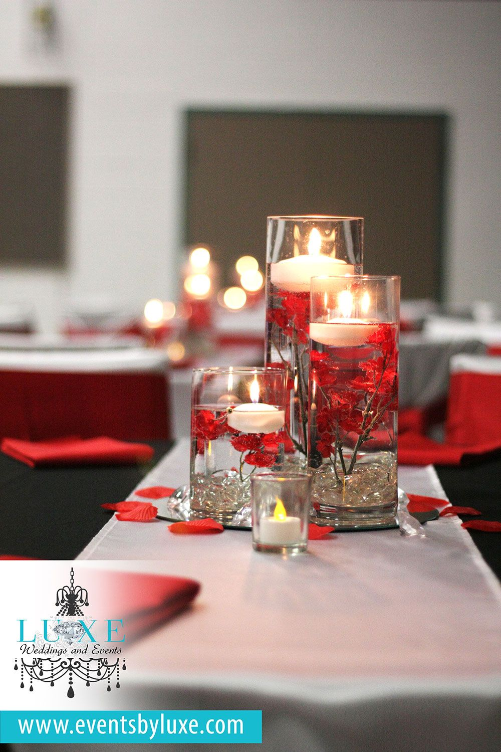 Red, Black and White Wedding décor (GOLD Package) by LUXE Weddings ...